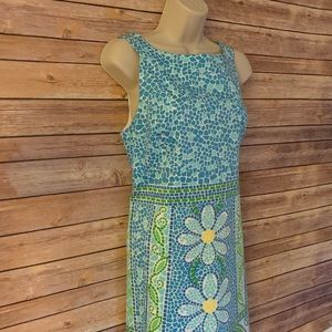 Lilly Pulitzer size 10 women's floral dress blue